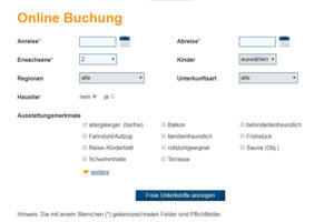 Realtime Online-Buchung